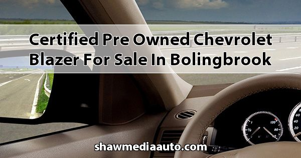 Certified Pre-Owned Chevrolet Blazer for sale in Bolingbrook