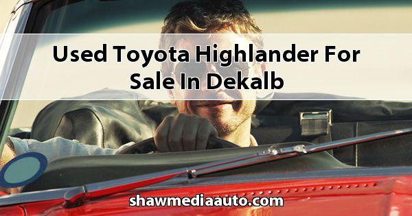 Used Toyota Highlander for sale in Dekalb