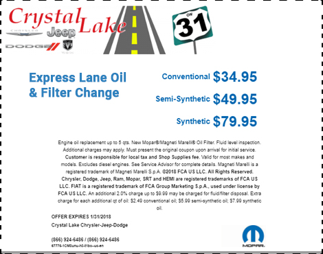 Express Lane Oil and Filter Change