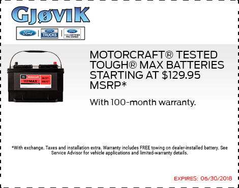 Max Batteries Starting at $129.95 MSRP