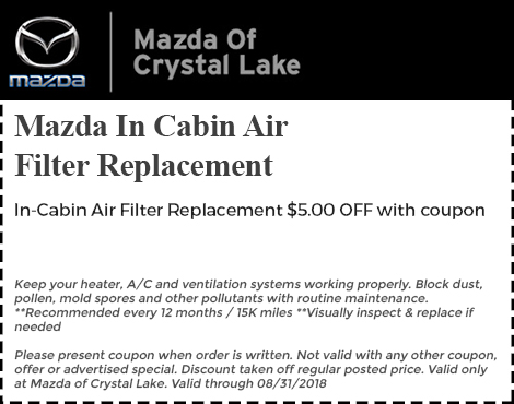Mazda In Cabin Air Filter Replacement