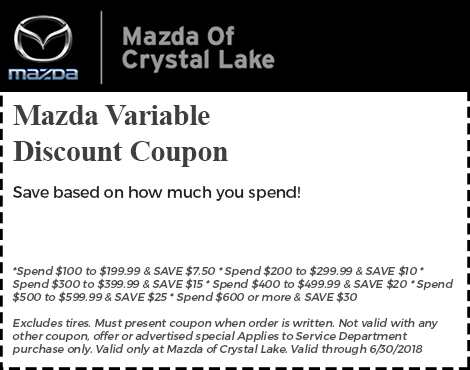 Mazda Variable Discount Coupon