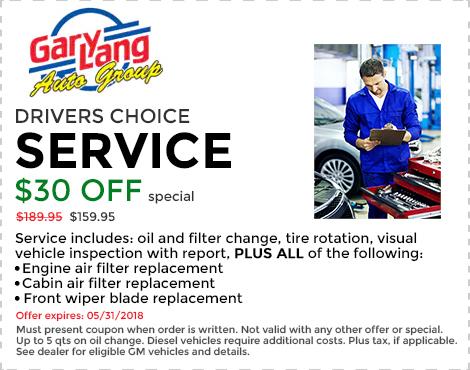 Service $30 Off